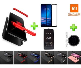 Estuche Xiaomi 360 Rigido Vidrio Templado Protector Camara