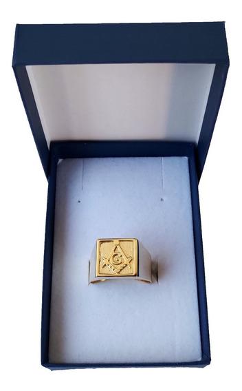 Anel Maçonaria Em Ouro 18kl/750 Todas As Medidas