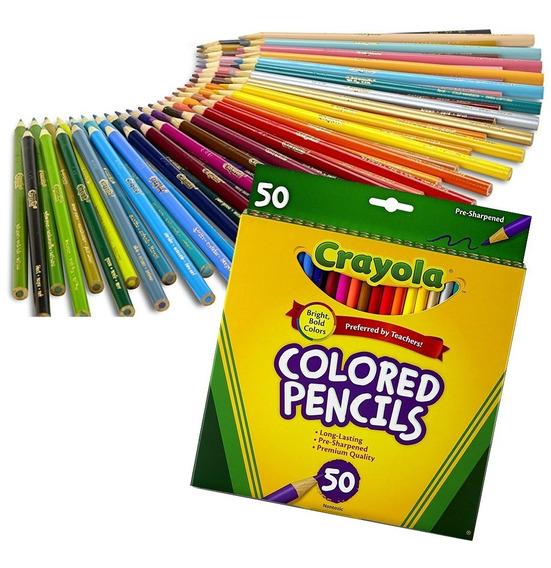 Lapices De Colores Crayola Calidad Premium Imp. Usa Pack X50