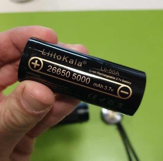 Bateria Recarregável P/ Lanterna 5a 3.7/4.2v Energia Solar