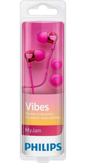 Fone De Ouvido Intra Auricular Philips She3700 Pink Original