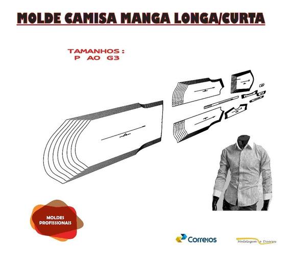 Molde Camisa Slim Manga Longa/curta P Aog3 Fracionado