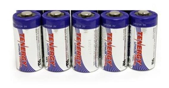 Bateria/pilha Tenergy Cr123a 3v 1400 Proteção Ptc Pack 5