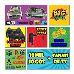 Kit Fliperama Portatil + 12 Mil Jogos + 2 Controles Ps3