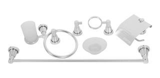 Juego Accesorios Baño 6 Piezas, Aluminio Alto Acabado Pulido