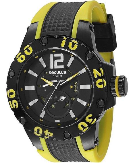 Relógio Masculino Seculus Analógico Esportivo 20105gpsspu3