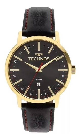 Relógio Technos Masculino Social Couro 2115mmitdy/4p