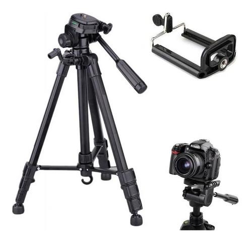 Imagem 1 de 3 de Tripé Universal Canon Nikon Fotográfico Profissional 1,80 Mt