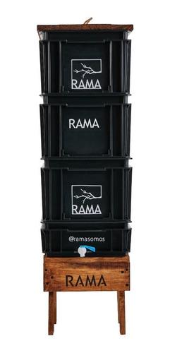 Compostera Rama Somos Doméstica 60 L Canilla - Redcompostaje