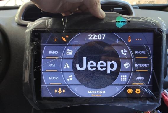 Multimídia Android Tela 9 Jeep Renegade Com Canbus Longitude Limited Sport Pcd + Câmera Re Waze iPhone Espelhamento