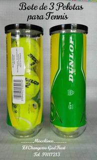 Bote De 3 Pelotas De Tenis. Dunlop Championship. Nuevas. Ma