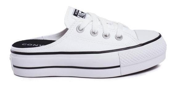 Zapatillas Converse Chucktaylor Allstar Mule Lift Slip White