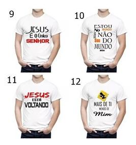Kit 10 Camisetas Evangelicais Dizeres Biblicos Cores Mistas