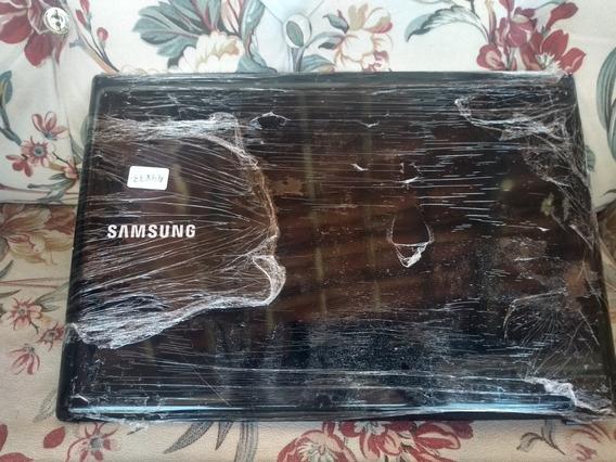 Carcaça Da Tampa Para Notebook Samsung Npr440 Preta.