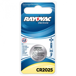Bateria Lithium Rayovac Cr2025 Botão 3v