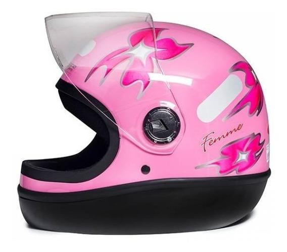 Capacete Original San Marino Formula 1 Rosa Com Flores