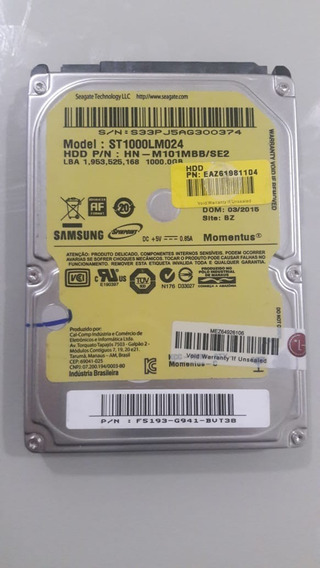 Hd Samsung 1000gb St1000lm024 Sata Notebook