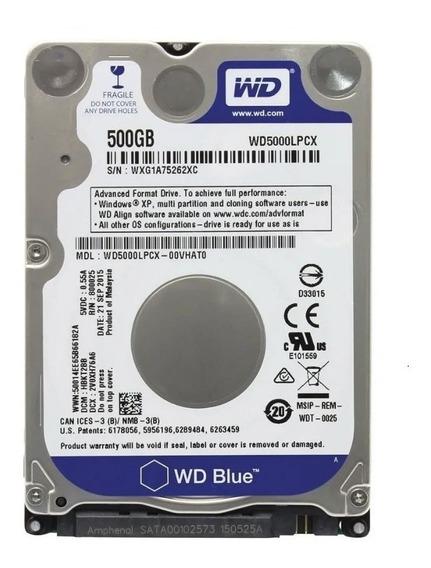 Hd 500gb Para Notebook Western Digital De 500gb Wd Blue 7mm