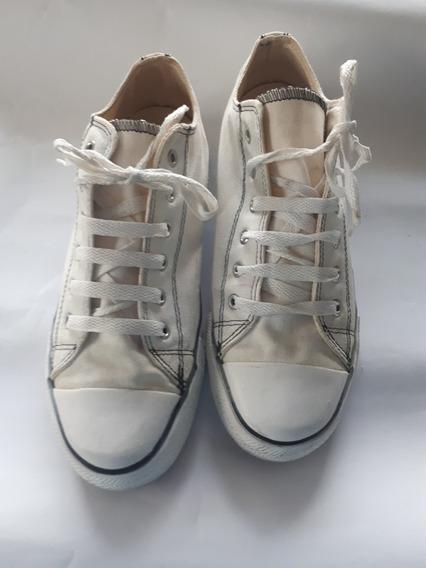 Zapatillas Levis Originales Talle 41 Lona Blanca