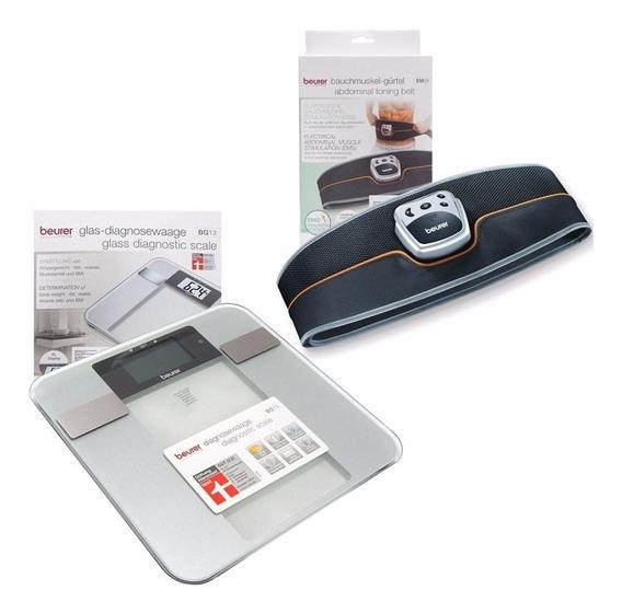 Kit Beurer Balanza Diagnóstico + Cinturón Electroestimulador