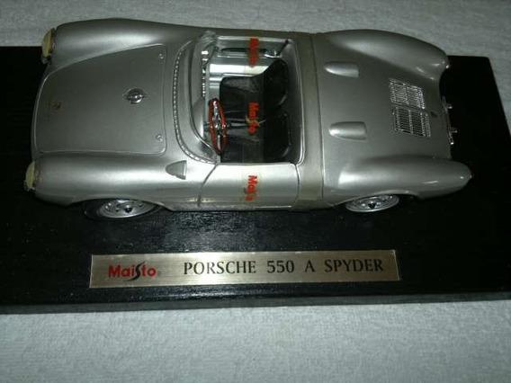 Carrinho Porsche Spyder 550 Escala 1/18 Usado!