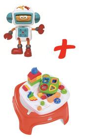 Mesinha Encantada Calesita + Roby Robô De Atividades Elka
