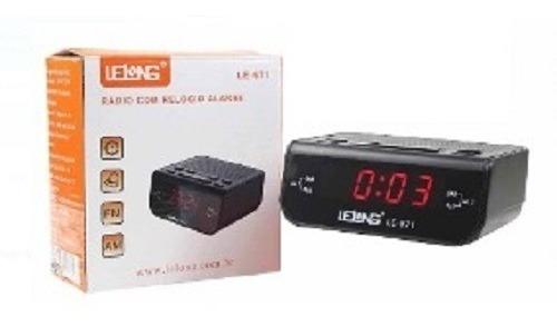 Rádio Relógio Digital Alarme Duplo Lelong Le-671