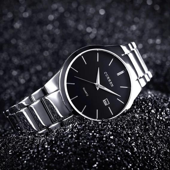 Reloj Curren Hombre Análogo Fechador Cuarzo Acero Elegante
