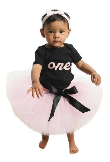 Conjunto De Primer Cumpleaños Con Tutú Para Bebé