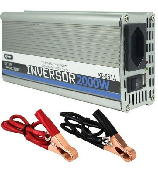 Inversor De Tensao 24v 220v 2000w Knup Kp551a Transformador