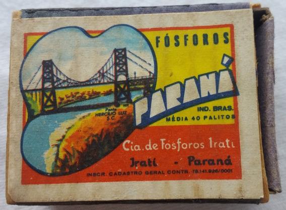 Caixa Fósforo Antiga Paraná Ponte Hercilio Luz - Vazia - Bo