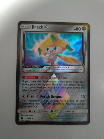 Card Pokémon Jirachi Estrela Prisma Inglês