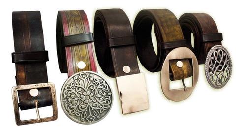 Cinturones En Cuero 100% , Eliges Hebillas, Medida Y Colores
