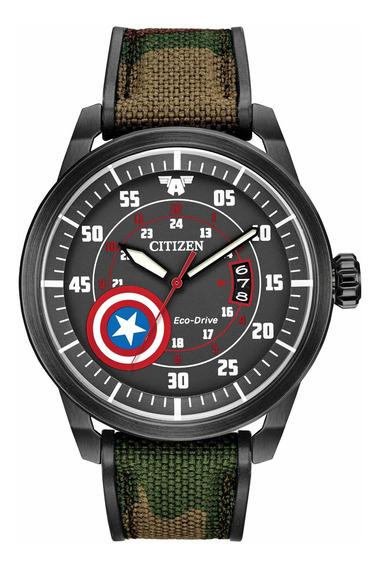 Relógio Citizen Eco Drive Marvel Capitao America Aw1367-05w