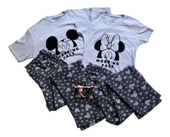 Par Pijamas Pareja Paquete Ropa Dormir Duo Mickey Mouse