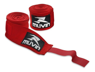 Bandagem Elástica 5 Metros Muvin - Vermelho