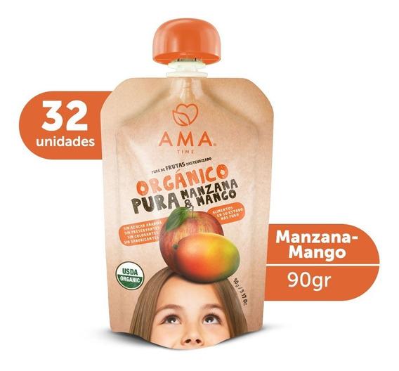Ama Puré Manzana Mango Orgánico 32x90gr