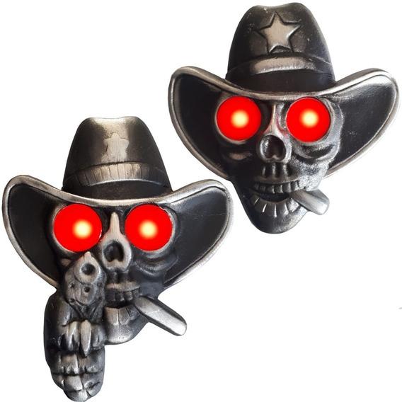Caveira Cowboy Para Caminhão Iluminada Bivolt 2 Modelos