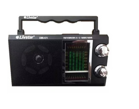 Radio Am Fm Tv Receive Sw1-9 12 Bandas Cnn-471 Pilha 110 220