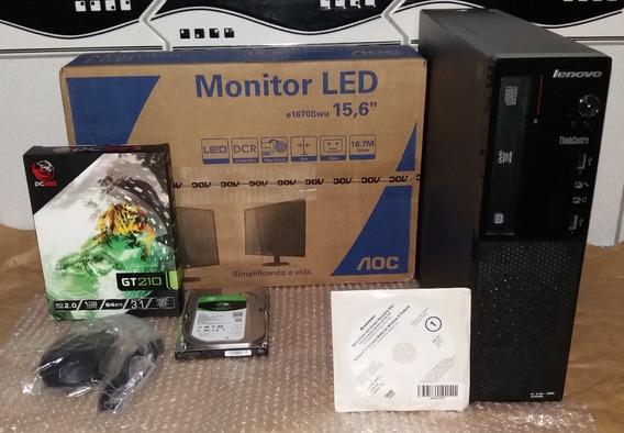 Lenovo Thinkcentre E73/ Core I5/ 8gb/ 1tb - Monitor 15,6