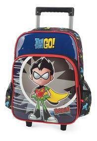 Mochila Rodinha Masculina Teen Titans Cartoon 32962
