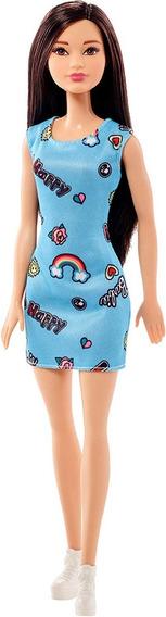 Boneca Barbie Básica Fashion Sortimento Asiática Morena