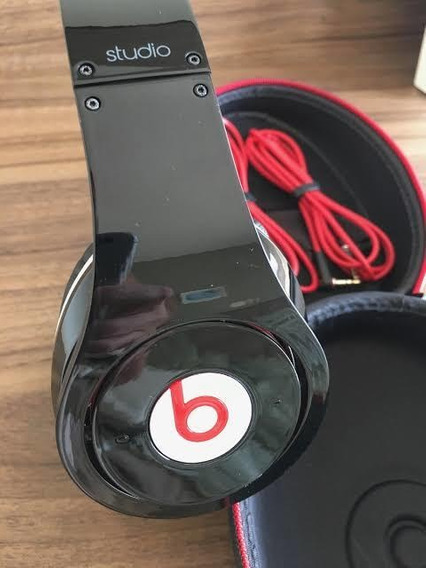 Headphone Beats Studio Original Vermelho E Preto