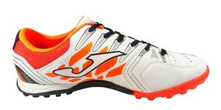 Joma Free 502 White Orange Turf. Tachones. Envio Gratis!!
