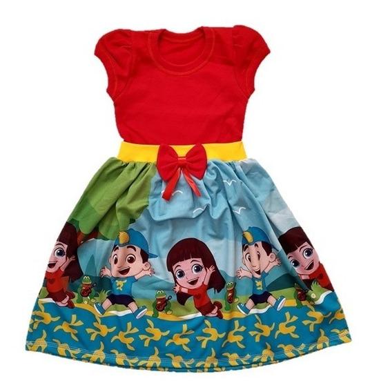Vestido Infantil Gi E Luccas Neto - Malha Roupa/fantasia
