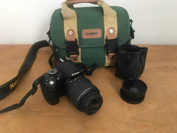 Nikon D3000 Lente 18-55mm + Grande Angular + Macro + Bolsa