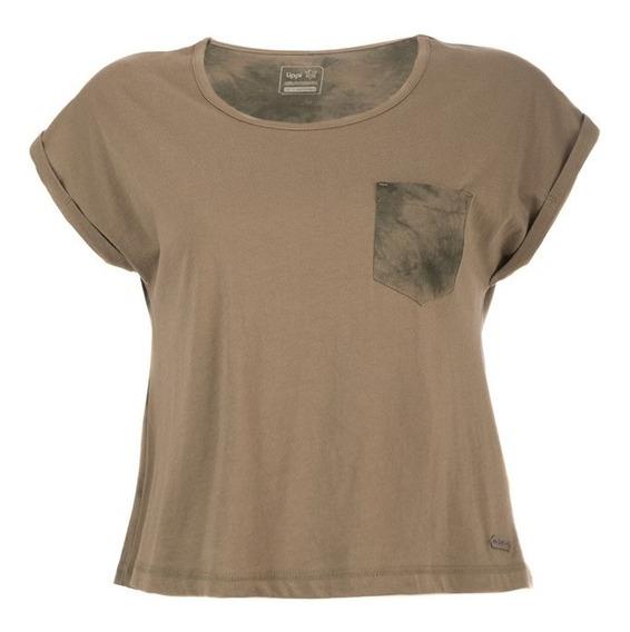 Polera Mujer Sunset T-shirt Verde Militar Lippi