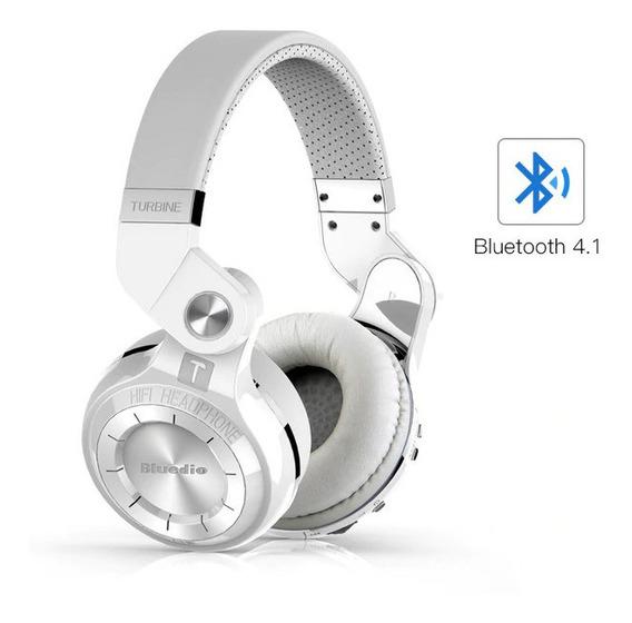 Fone Sem Fio Bluedio T2s Bluetooth Headphone Branco