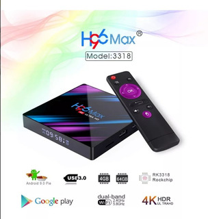 Tv Box H96 Max Android 9.0 Bluetooth 4k 64gb 4gb Ram