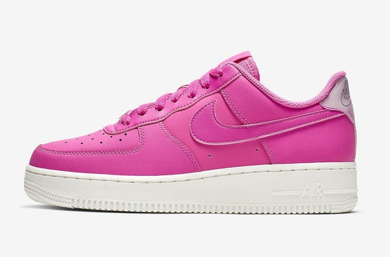 Nike Air Force 1 Low Fuchsia Mujer Original Ao2132-600-b